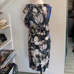 Thakoon floral draped dress